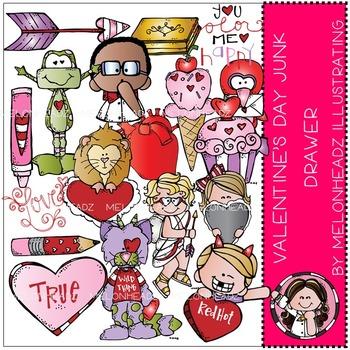 Valentine's Day clip art - junk drawer - by Melonheadz