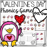Valentine's Day long vowel: oa, ow game for fluency