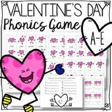 Valentines Day long vowel silent e a-e game