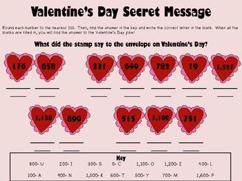 Valentine's Day rounding to nearest 100 activity