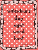 FREEBIE!! Valentine's Day sight word hunt