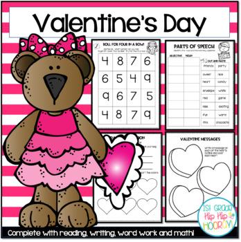 A Bundle Of Valentine S Day Activities Math Literature Word Work