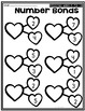 Valentines Day Number Bonds- Missing Part and Missing Whole
