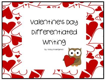 Valentine's Differentiated Writing pages
