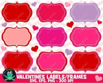 Valentines Digital Frames Clip Art - UZ883