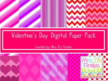 Valentine's Digital Paper Pack