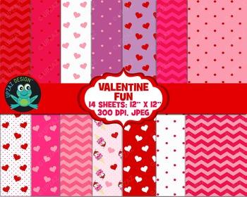 Valentines Digital Paper - UZ874