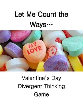 Valentine's Divergent Thinking Game
