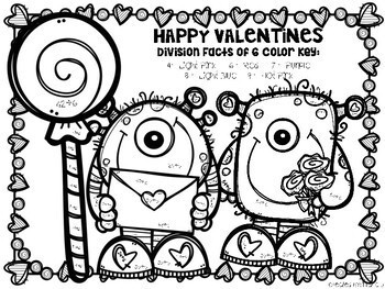 Valentines Division Color-By-Number
