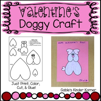 Valentines Doggy Craft!