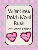 Valentines Dolch Word Rush- 2nd Grade