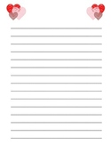 Valentine's Doodle Hearts Lined Paper