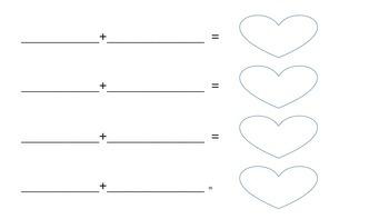 Valentine's Double Vowel Syllable Puzzles