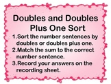Valentine's Doubles and Doubles plus one Sort
