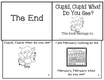 "Valentines Emergent Reader ""Cupid, Cupid What Do You See?"" K-1 Mini Book"