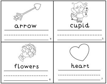 Valentines Emergent Reader Mini-Book Set of 4! K-1