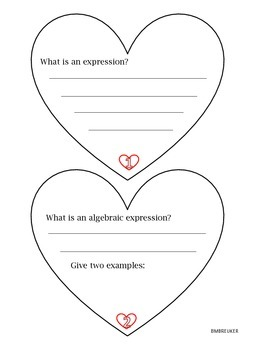 Valentines Equations/Expressions/Inequalities Booklets