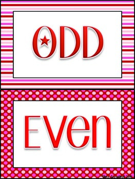 Valentine's Day Math Games: Even and Odd Numbers