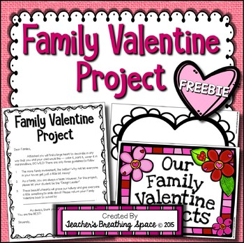 Valentines Day Family Heart Project FREEBIE  February