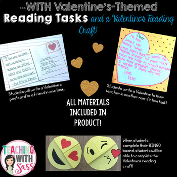 Valentines February Nonfiction Reading Bingo Board- Calkins Aligned!