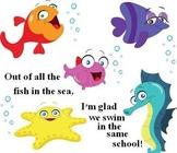 Valentines Fish in the Sea