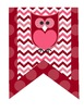 Valentine's Flag *Pennant* Banner -Owls, Birds, Chevron and Dots