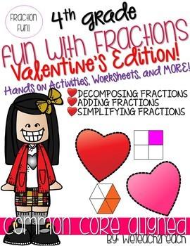 Valentines Fraction Fun Activities