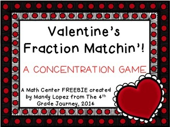 Valentine's Fraction Matchin'! {FREEBIE}