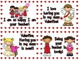 Valentines From Teacher To Students