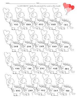 Valentine's Game Quiz Quiz Trade Multiplication