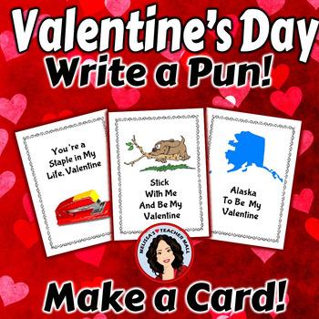 Valentine's Day Activity - Write a Pun, Make a Card