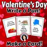 Valentine's Day Activity Write a Pun Make Valentine Cards