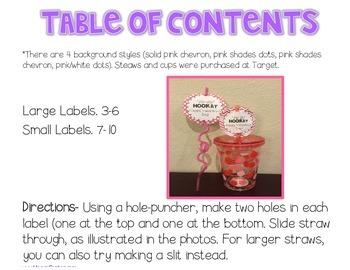 Valentine's Gift Labels {Sip Sip Hooray Straws}