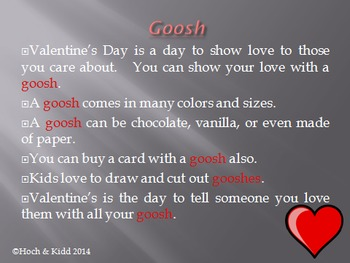 Valentine's Goosh - Making Inferences & Context Clues