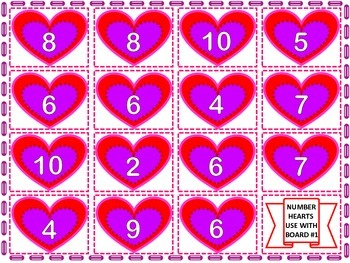 Valentine's Grade One Math Games