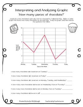 Valentine's Graphs- Survey/Construct Own, & Analyze/Interpret Pre-Made Graphs