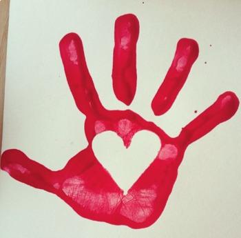 Valentines Hand-print Heart