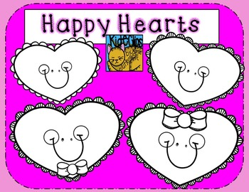 Valentine's Hearts Happy Rainbow Clip Art by Kid-E-Clips Commercial and Personal