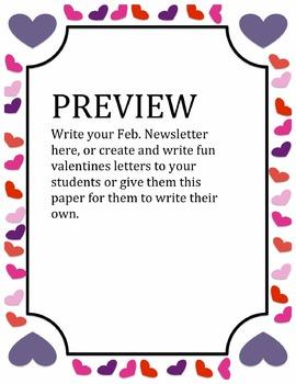 Valentine's Heart Border for Newsletter/Letter