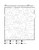 Valentine's Heart Division Coloring Page