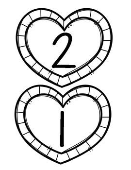 Valentines Heart Measuring Math Center