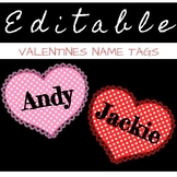 VALENTINES Heart Name Tags - Perfect for bulletin boards,