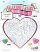 Valentine's Maze - Valentines Maze - Heart Maze - B&W Print Ready
