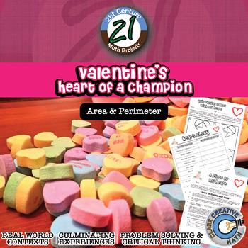 Valentine's Heart of a Champion -- Area, Perimeter, Volume & Soul Mate Finder