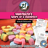 Valentine's Heart of a Champion -- Area, Perimeter, Volume - Math Project