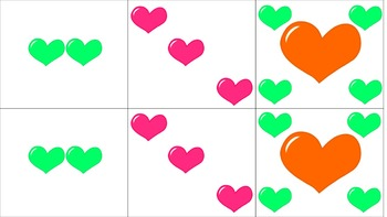 Valentine's Hearts Language Card Game