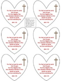 Valentines Hearts for Cards with John 3:16 Cut & Paste