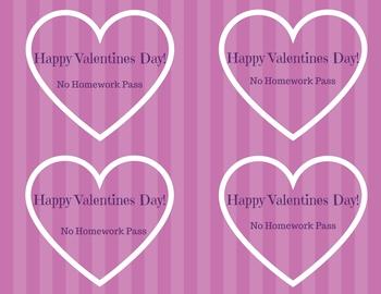 Valentines Homework Pass