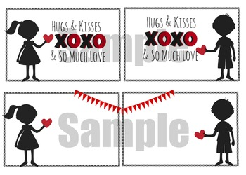 Valentine's day Cards- Hugs and Kisses Theme