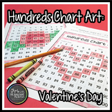 Hundreds Chart Art: Valentine's Day Heart and Rose (Mystery Picture)